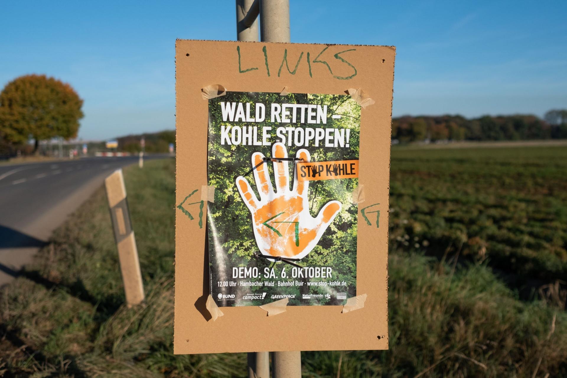 Demo zum Hambacher Forst - Wald retten Kohle stoppen